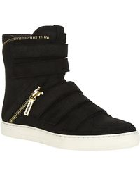 Pierre Balmain Zip Detail High Top Sneaker - Lyst