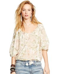 Denim & Supply Ralph Lauren Brighton Floral Boho Top - Lyst