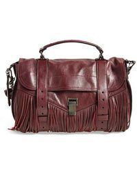 Proenza Schouler Medium Ps1 Fringed Leather Satchel purple - Lyst