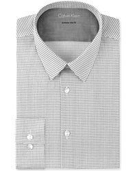 Calvin Klein X Extra-slim Shadow Geo-print Dress Shirt - Lyst