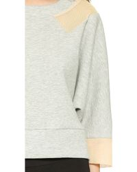 VPL - Active Double Face Knit Pullover - Heather Grey - Lyst