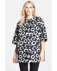 Helene Berman 'Neva' Jacquard Spot Kimono Coat - Lyst