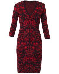 Alexander McQueen Tulip Intarsia-Knit Dress - Lyst