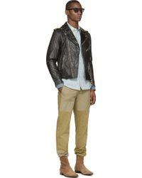 Diesel Black Leather L_Umenirok Jacket - Lyst