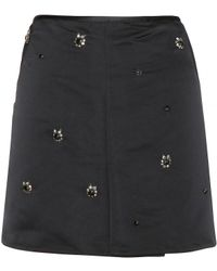 Marni Embellished Satin Skirt - Lyst