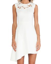 Tibi White Blossom Dress - Lyst