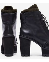 Nasty Gal Shellys London Celee Leather Boot - Black - Lyst