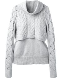 Elizabeth And James Layered Cable Knit Jumper - Lyst