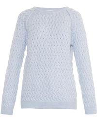 Chinti & Parker Basketweave Sweater blue - Lyst