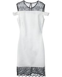 Versus  Lace Panel Dress - Lyst