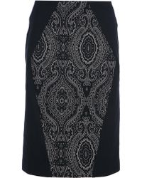 Isola Marras - Embroidered Pencil Skirt - Lyst