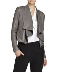 BCBGMAXAZRIA Lola Leather Moto Jacket - Lyst