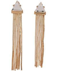 Metropark Triangle Fringe Earrings - Lyst