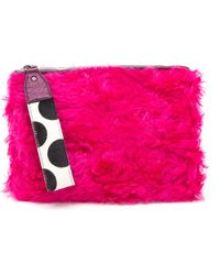 House Of Holland Eco-fur Bag Of Tricks Clutch - Lyst