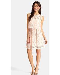 Donna Morgan Women'S Lace Popover Dress - Lyst