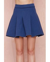 Nasty Gal Savannah Skater Skirt Navy - Lyst