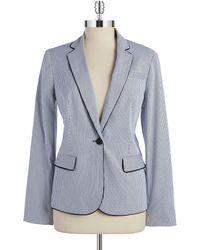 Jones New York The Julia Striped Jacket blue - Lyst
