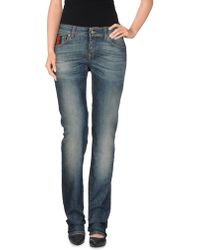 Gucci Blue Denim Pants - Lyst