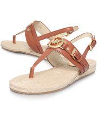 Michael Kors Mackenzie Flat Sandals - Lyst