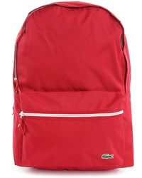 Lacoste Red Backpack - Lyst