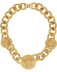Versace Goldplated Necklace - Lyst