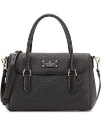 Kate Spade Grove Court Leslie Small Tote Bag Black - Lyst
