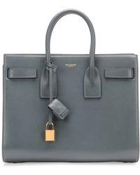 Saint Laurent Sac De Jour Small Carryall Bag Gray - Lyst