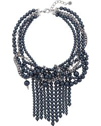 "Sam Edelman - Pearl Collar 15"" Necklace - Lyst"