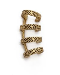 House of Harlow 1960 - Engraved 4 Ring Ear Cuff Gold - Lyst