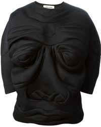 Henrik Vibskov Origami Face Sweater - Lyst