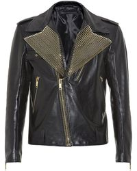 Alexander McQueen Zip Trim Biker Jacket - Lyst