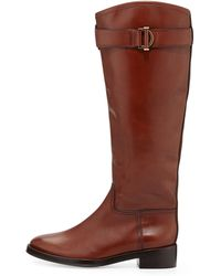 Tory Burch Grace Leather Riding Boot - Lyst