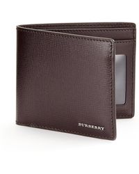 Burberry | Wine Billfold | Lyst