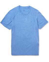 Aether - Pieced Zip-Pocket Jersey T-Shirt - Lyst