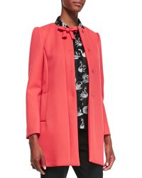 RED Valentino Hidden Placket Scuba Topper - Lyst