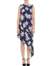 Marni Floral Asymmetric-hem Dress - Lyst