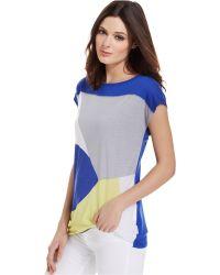 Calvin Klein Jeans Short-Sleeve Colorblocked Tee - Lyst