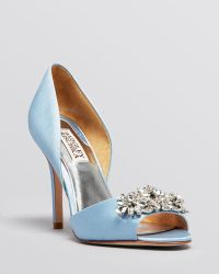 Badgley Mischka Open Toe Dorsay Evening Pumps - Giana High Heel - Lyst