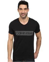Calvin Klein Logo T-Shirt black - Lyst
