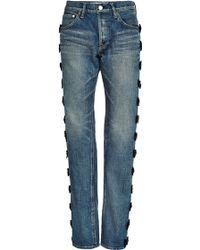 Tu Es Mon Tresor Grosgrain Bow-Trimmed Jeans - Lyst