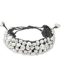 Aeravida - Handmade Genuine Stone Hemp Stone Bracelet - Lyst
