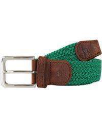 Tyler And Tyler - Green Woven Belt - Lyst