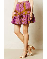 Cynthia Rowley Purple Anakena Skirt - Lyst