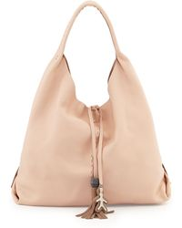 Henry Beguelin Draped Soft Leather Hobo Bag - Lyst
