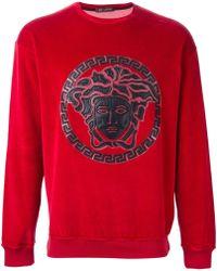 Versace Medusa Velvet Sweatshirt - Lyst