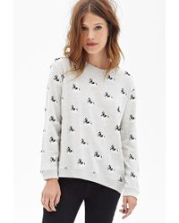 Forever 21 Boston Terrier Sweatshirt - Lyst