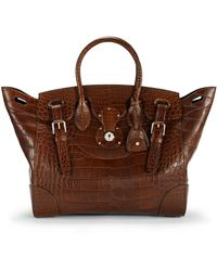 Ralph Lauren Matte Alligator Soft Ricky Bag - Lyst