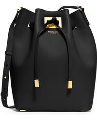 Michael Kors Miranda Large Bucket Bag - Lyst