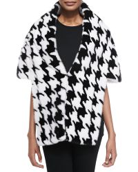 Michael Kors Dogtooth-pattern Mink Fur Stole - Lyst