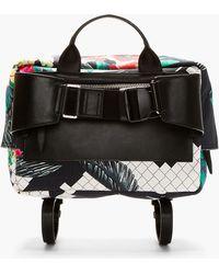 3.1 Phillip Lim - Navy Tropical Print Oversize Messenger Bag - Lyst